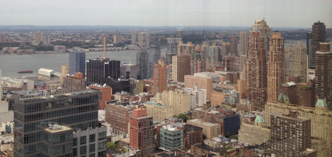 NYC and the Hudson River from the roundtable meeting room