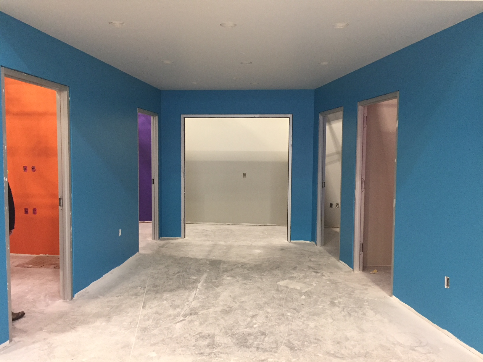 colored rooms in new office